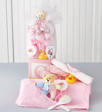 B-is-for-Baby Girl Gift Cube