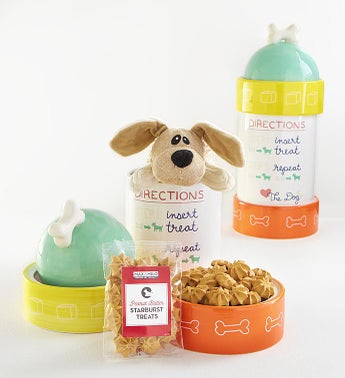 Max  Milo Fire Hydrant Dog Treats Gift Set