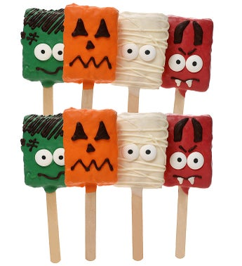 Halloween Spooky Hand Dipped Crispy Rice Pops
