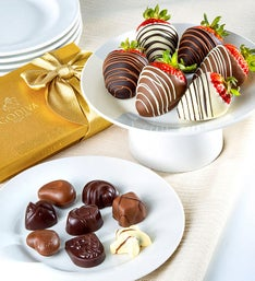 Godiva Ballotin  Chocolate Covered Strawberries