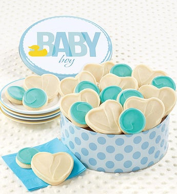 Cheryls Baby Boy Ducky Cookie Tin