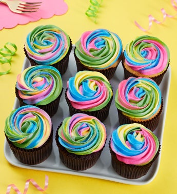 Treasured Tie Dye Artisan Cupcakes
