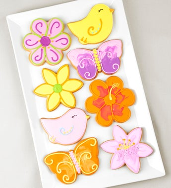Fabulous Flowers Artisan Iced Cookies