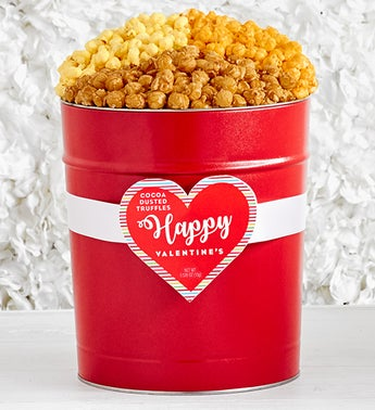 Popcorn Factory Popped Through The Heart Tin