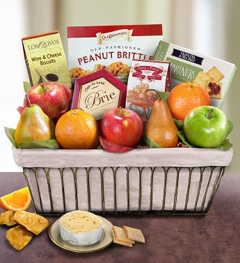Parisian Terrace Fruit Gift Basket