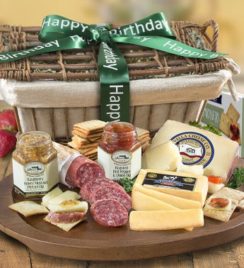 Birthday Epicurean Meat  Cheese Gift Basket