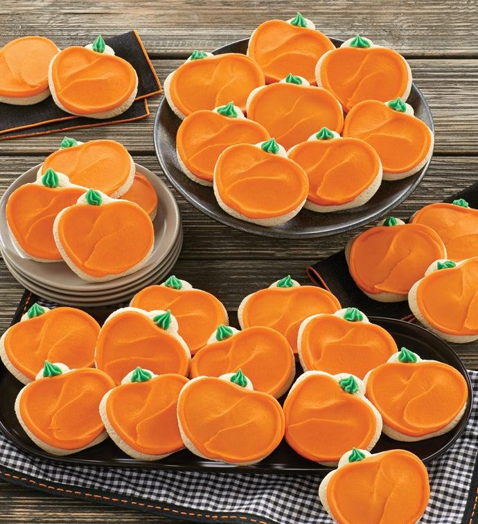 Buttercream Frosted Pumpkin Cutout Cookies