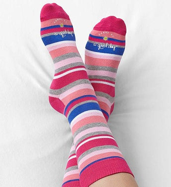 Good Day Striped Socks for Women