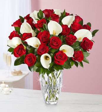 Luxurious Red Rose  Calla Lily Bouquet