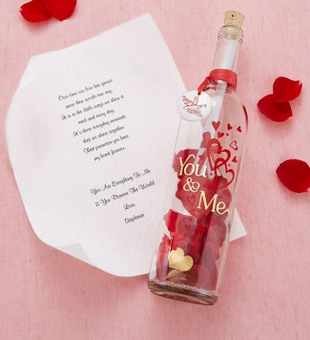 Personalized Message In A Bottle You  Me