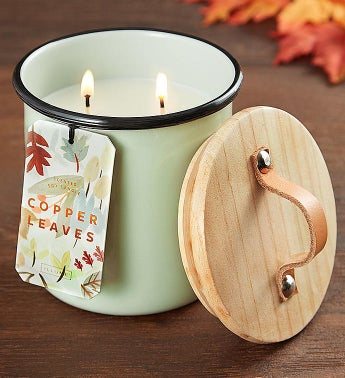 Illume Copper Leaves Candle