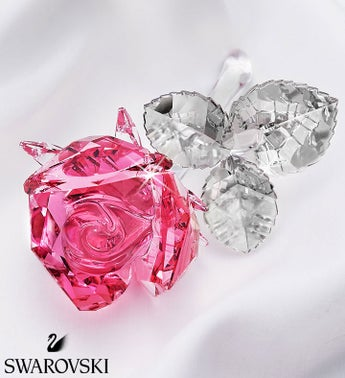 Swarovski Blossoming Pink Rose