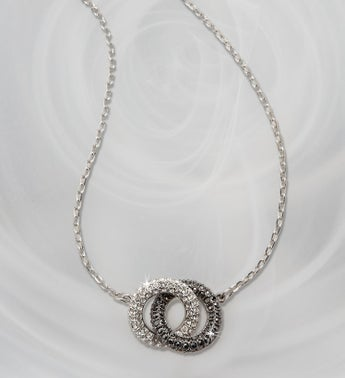 Swarovski Two Tone Circle Pendant