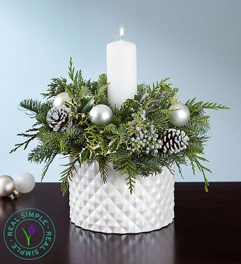 Winter White Centerpiece by Real Simple