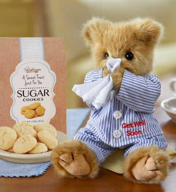 Bearington Get Well Bear with Cheryls Cookies