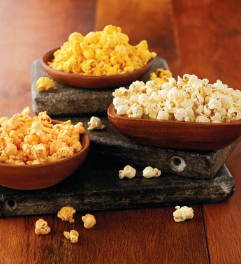 The Popcorn Factory174 Three-Canister Savory Assortment
