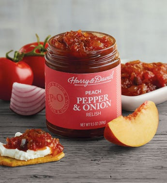 Pepper and Onion Relish with Peach