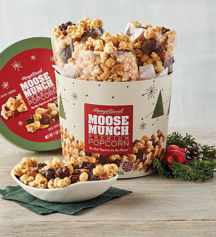 Moose Munch® Premium Popcorn Holiday Drum