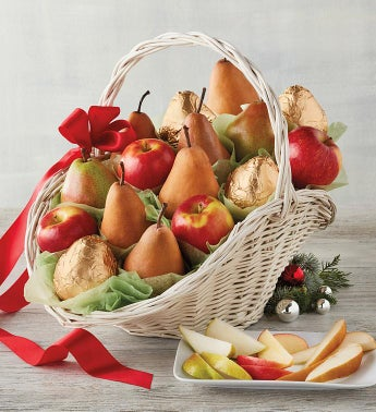 Heritage Pear and Apple Gift Basket