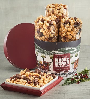 Moose Munch174 Premium Popcorn Holiday Drum