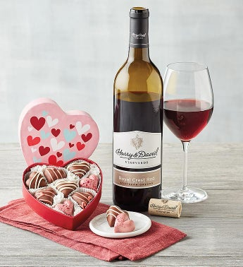 Valentine39s Day Truffles and Wine