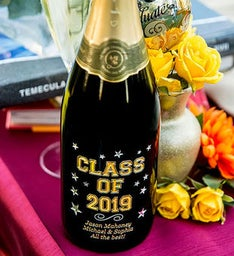 Varsity Class of Personalized Wine Bottle