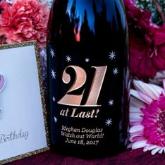 21 at Last Personalized Wine Bottle