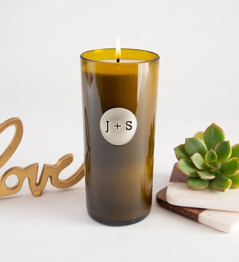 Circle Monogram Personalized Candle