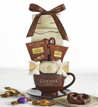 Godiva Coffee  Chocolates Latte Mug Set