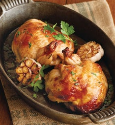 Garlic-Butter Marinated Whole Halved Chicken