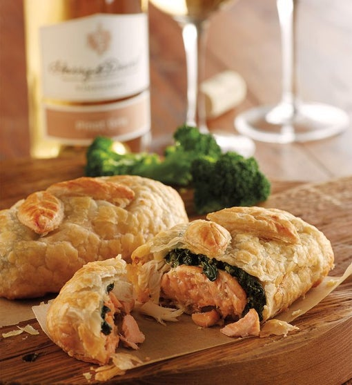 Salmon Wellington with Wine