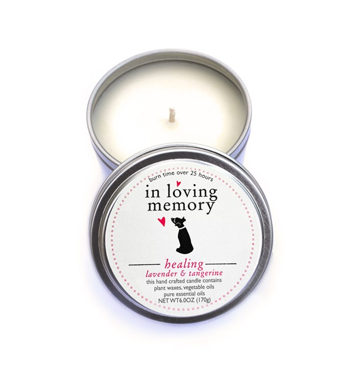Dog Lovers Pet Memorial Candle