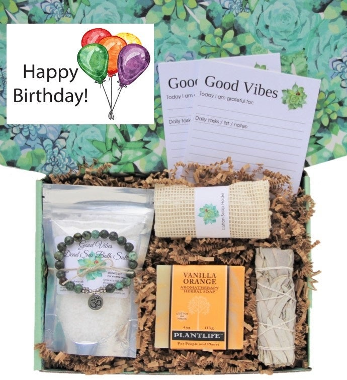 34Happy Birthday34 Good Vibes Women39s Gift Box
