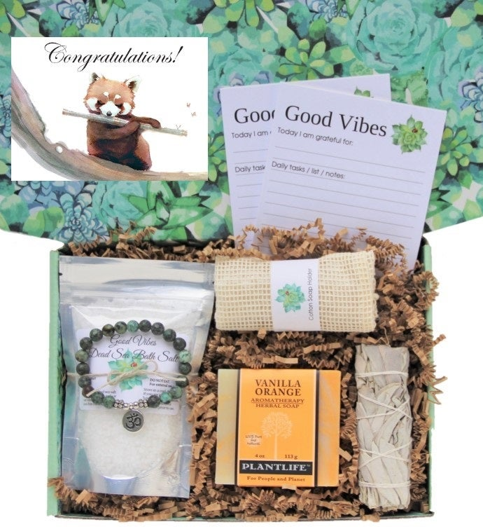 34Congratulations34 Good Vibes Women39s Gift Box